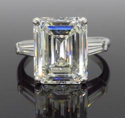 GIA Certified 6.81CTW Emerald Cut Diamond Ring