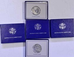 5 x 1986 Uncirculated Silver 50c Commems