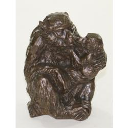 Mother with her Baby Bronze Sculpture