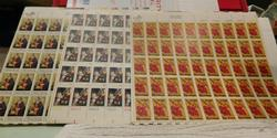Stamp sheets, Christmas  $16.50 face