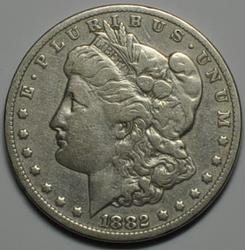 1882 CC Raw Morgan Dollar