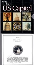 1994 US Capitol Proof Comm Silver $1. Custom Packaging