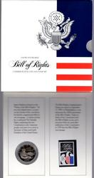 1993 Bill of Rights Proof Coin and Stamp Set