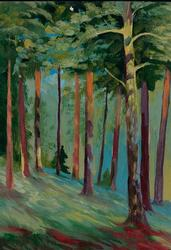 Buzuluk Forest, Oil on Paper by Y. Yakimov