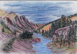 River Vale, Pastel on Paper by D.V. Tim
