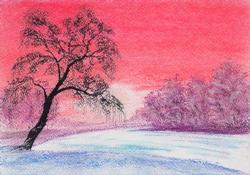 Below Zero, Pastel on Paper by D.V. Tim