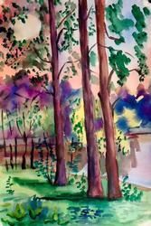 Original Watercolor on Paper by Basov