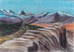 Winds Unknown, Pastel on Paper by D.V. Tim