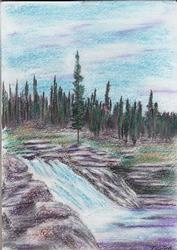 Proto Fall, Pastel on Paper by D.V. Tim