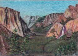 Rocky Vale, Pastel on Paper by D.V. Tim
