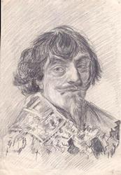 Portrait of Nicolaes Hasselaer, Pencil on Paper