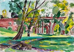 The Empress' Grounds, Watercolor on Paper
