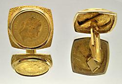 Gents Cufflinks With 24kt Gold Austrian Coins