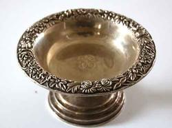 S Kirk Repousse  Sterling Silver Compote