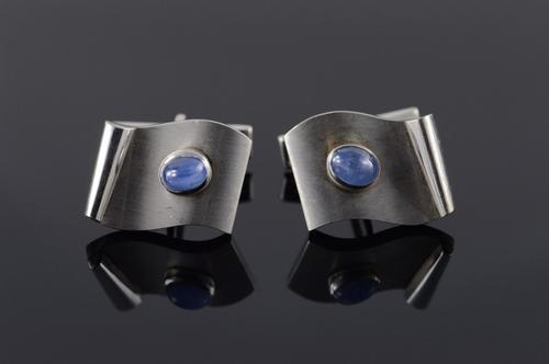 Men's 14kt Solid Gold Star Sapphire Cufflinks