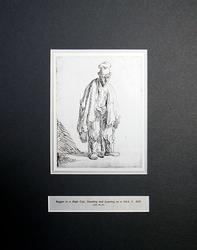 Rembrandt, Beggar In A High Cap