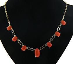 Vintage Coral Dangle Necklace