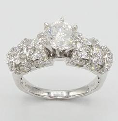 Extravagant 3.30 CTW Diamond Platinum Ring