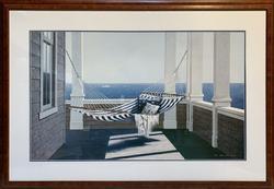 Striped Hammock by Zhen-Huan Lu Lithograph