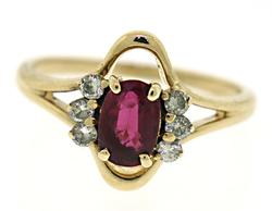 Gorgeous Ruby and Diamond Accent Ring