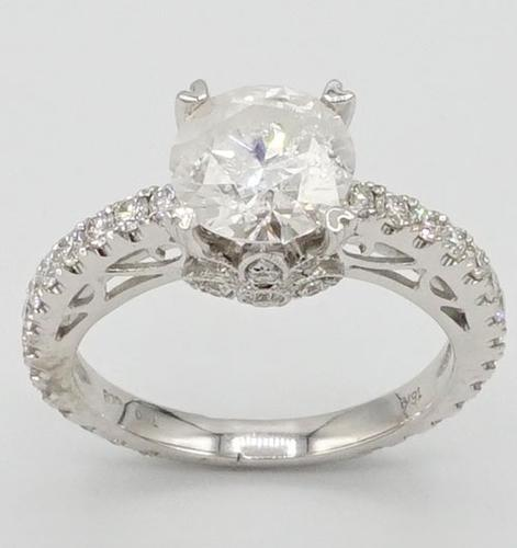Breathtaking 2.54 CTW Diamond 18kt Solitaire
