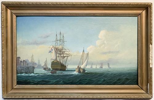 Vintage Original Oil on Canvas By Leonard Jones