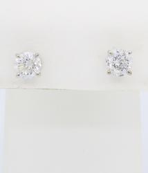1.47ctw Diamond Stud Earrings in White Gold