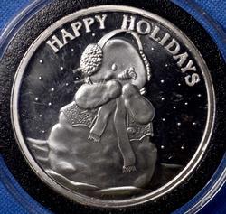 Fine Silver 1 oz Holiday Round 2013