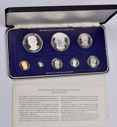 1976 9 Coin Panama Proof Set