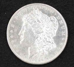 1889 Proof Like BU Morgan Dollar