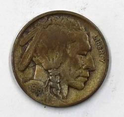 High Grade 1919 D Buffalo Nickel