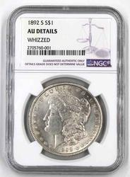 1892 S AU Details  Morgan Silver Dollar