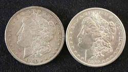 1890 S and 1900  Near Unc Morgan Dollars