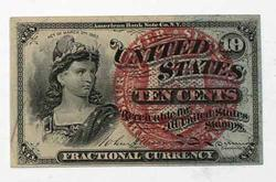 10 Cent Fractional Currency Fourth Series Fr 1259