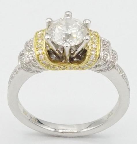 18KT White Gold  Round Brilliant Cut Diamond Ring