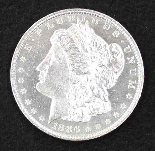 1886 Proof Like  BU Morgan Dollar