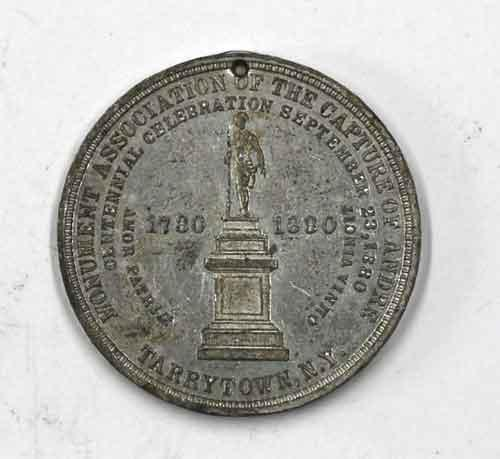 1880 Capture of Major Andre Aluminum Medal