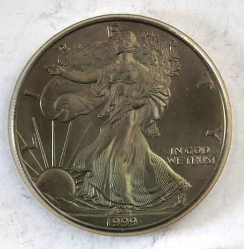 1999 Toned Gem BU Silver Eagle
