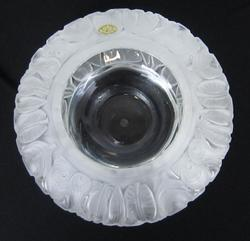 Mouth Blown Portieux French Crystal Art Glass Bowl