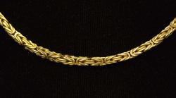 Heavy Byzantine Link Gold Chain, 15.75in