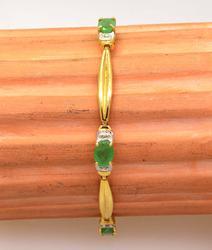 Classic Emerald Bracelet, 7.25in