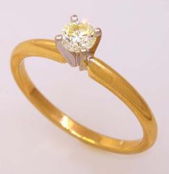Excellent Diamond Solitaire, 0.27CT, 14KT Gold