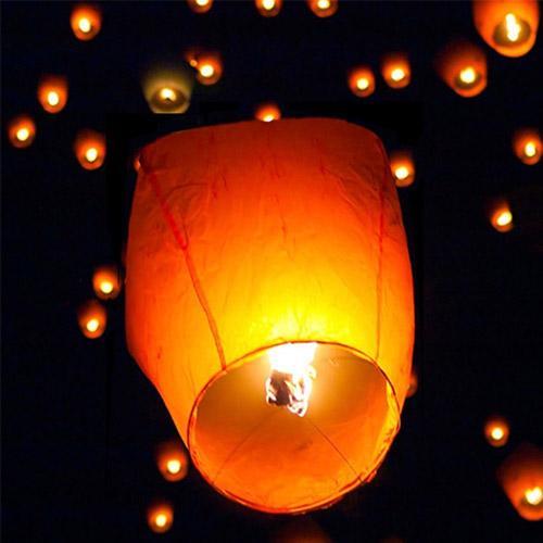 50pcs Flying Candle Sky Lanterns Paper Floating Lantern