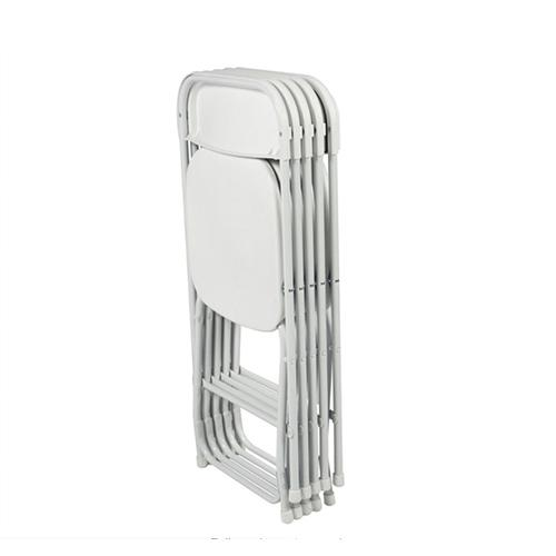 5pcs Plastic Folding Stackable Party Event Chairs White