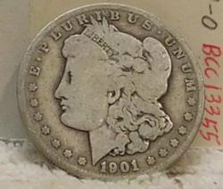1901-O Morgan Dollar, circulated