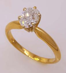 1.15ct Diamond Engagement Ring, Size 7.25