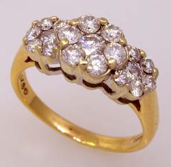 1.35ct Well-Made Diamond Cluster Ring, Size 9