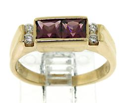 Pink Tourmaline and Diamond Accent Ring