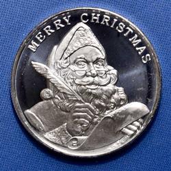 2018 1oz Fine Silver Silver Holiday Round