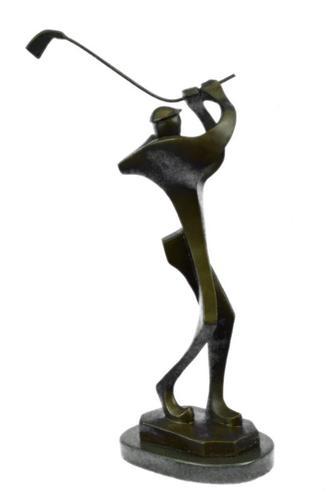 Abstract Golf Golfer Golfing Modern Art Sculpture Statue